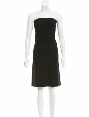 Narciso Rodriguez Strapless Mini Dress Black