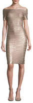 Herve Leger Carmen Striped Sheath Dress