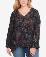 Jessica Simpson Trendy Plus Size Ladria Printed Top