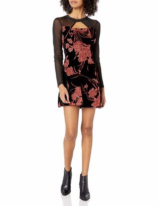 BCBGeneration Women's Velvet Fit & Flare Dress