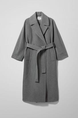 Weekday Kia Wool Blend Coat - Grey