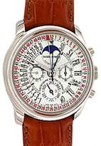 "Roger Dubuis Hommage"" Perpetual Calendar Retrograde Chronograph 18K White Gold Mens Watch"