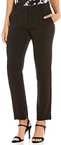 H Halston Slim Flat Front Tapered Trouser