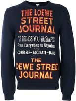 Loewe slogan embroidered sweatshirt