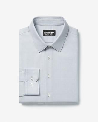 Express Extra Slim Plaid Cotton Stretch 1Mx Dress Shirt