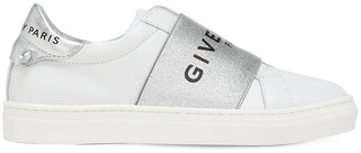 Givenchy Slip-on Leather Sneakers W/ Logo Strap