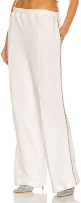 Area Crystal Stitched Track Pant in White | FWRD