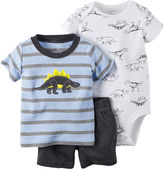 Carter's 3-pc. Short-Sleeve Dino Bodysuit Set - Baby Boys newborn-24m