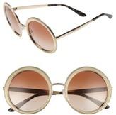 Women's Mdg Madonna For Dolce&gabbana 54Mm Gradient Round Sunglasses - Gold/ Brown Gradient