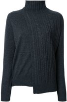 ASTRAET asymmetric cable knit jumper