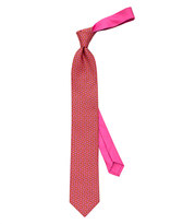 Thomas Pink Squirrel Print Tie