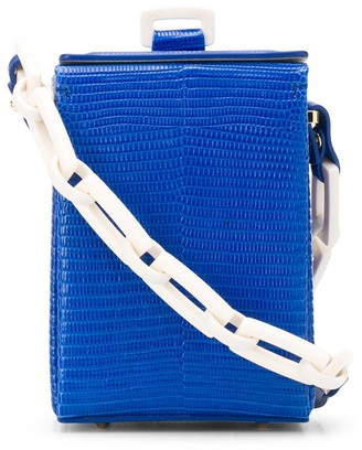 Nico Giani Chain Strap Croc-Effect Cross Body Bag