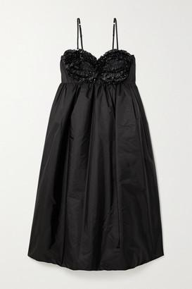 MONCLER GENIUS + 4 Simone Rocha Ruffled Embellished Shell Down Dress - Black