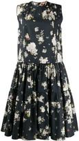No.21 floral print sleeveless midi-dress