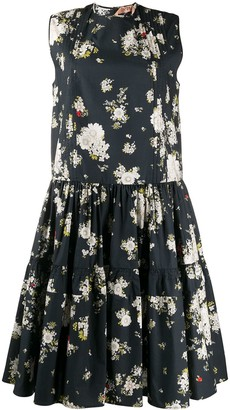 No.21 Floral Print Sleeveless Midi-Dress