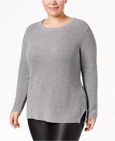 Calvin Klein Plus Size Crew-Neck Sweater