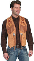 Scully Men's Handlaced Bead Trim Vest 755