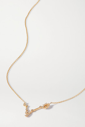 Sebastian Celestial Pisces 10-karat Gold Diamond Necklace