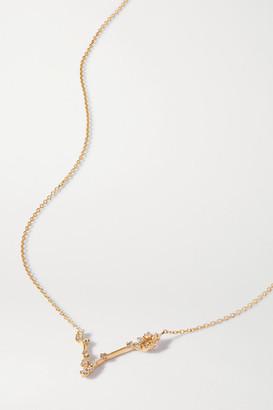 Sebastian Celestial Pisces 10-karat Gold Diamond Necklace - one size