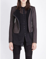 Isabel Benenato Zip-detail cropped leather jacket