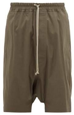 Rick Owens Rick's Pods Cotton Blend Shorts - Mens - Grey