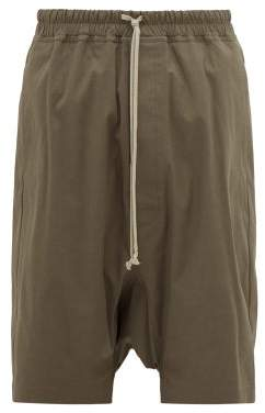 Rick Owens Rick's Pods Cotton-blend Shorts - Mens - Grey