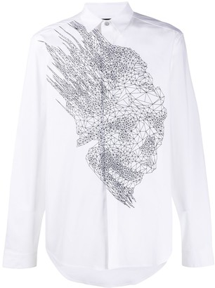 Just Cavalli wireframe-print shirt