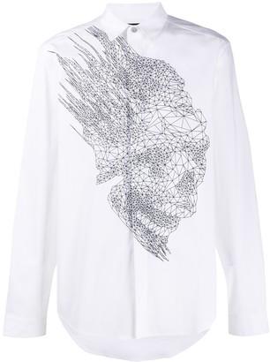 Just Cavalli Wireframe-Print Shirt