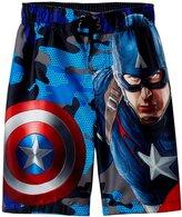 Marvel Captain America Swim Trunk (Toddler/Kid) - Blue - 5/6
