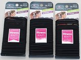 Scunci No Slip Grip Strong Hold Jelly Elastics Black 28 Count (Pack of 3)