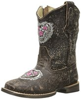 Roper Silver Heart Square Toe Cowgirl Boot (Toddler)