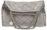 Stella McCartney 'Mini Falabella' Quilted Faux Leather Tote - Grey