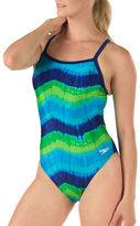 Speedo Bye Tie Dye Flyback Printed Swimsuit