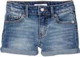 Roxy Light Blue Crush Cuff Denim Shorts (Toddler & Little Girls)