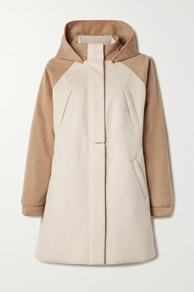 Loro Piana Hooded Leather-trimmed Cashmere Coat - Beige