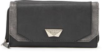 Jessica Simpson Double Zippered Geometric Wallet