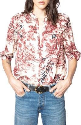 Zadig & Voltaire Tygg Juoy Satin Button-Up Shirt