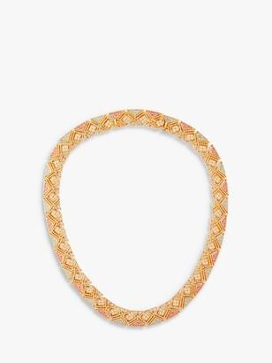 Susan Caplan Vintage D'Orlan 22ct Gold Plated Swarovski Crystal Collar Necklace, Gold/Multi