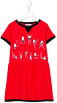 Rykiel Enfant - cat print dress - kids - Cotton - 10 yrs