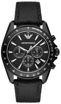 Emporio Armani Men's Chronograph Nylon Strap Watch, 44Mm