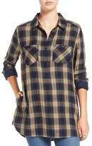 BP Women's Plaid Popover Tunic