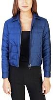 Prada Women's Nylon Puffer Down Jacket Blue.