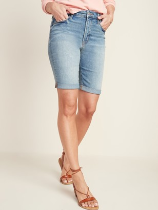 Old Navy High-Waisted Cuffed Bermuda Jean Shorts for Women -- 9-inch inseam
