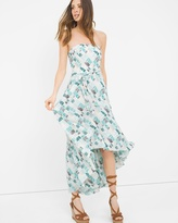White House Black Market Printed High-Low Fit-and-Flare Dress