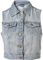 Petite Sleeveless Denim Jacket