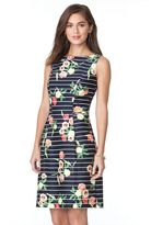 Chaps Women's Striped & Floral Fit & Flare Sateen Dress