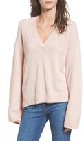 BP Women's Boucle V-Neck Sweater