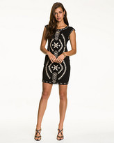 Le Château Embroidered Crochet Tunic Dress