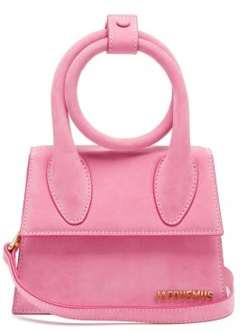 Jacquemus Chiquito Noeud Leather Cross-body Bag - Pink
