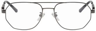 Balenciaga Gunmetal Tag Aviator Glasses